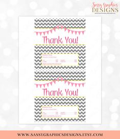 Candy Bar Wrapper Baby Shower Candy Wrapper Party Printable Favor Tags Shower Favor Wrapper Chevron Pink Yellow Download DIY Wrap PDF