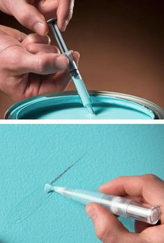 Awesome idea to paint retouching around the house (paint retouch pen)