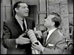 Milton Berle and Mickey Rooney joke about canned laughter (aired 1954)