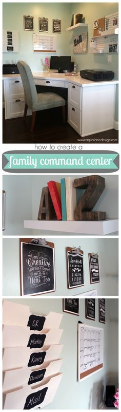 DIY: How to create a command center - Links to all the products used and how it was all put together. A great way to keep your family organized! #commandcenter
