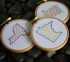 Mini Hoop Art Kit. Beginner Embroidery Kit. Hand by LovelyMesses