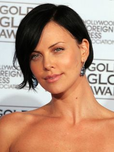 charlize theron short hair - Google Search