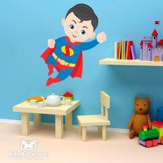 Vinilo infantil Superman Volando