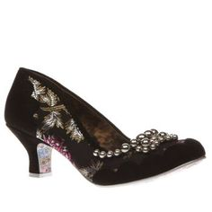 Irregular Choice Black & Silver Pearly Dazzler Womens Low Heels