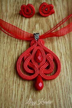 Soutache Pendant, Soutache Necklace, Diy Necklace, Fabric Jewelry, Beaded Jewelry, Handmade Jewelry, Embroidery Jewelry, Beaded Embroidery, Bead Crafts