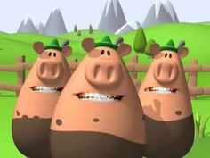 Happy Birthday, Singing Piggies, Funny, Geburtstagsgrüße, Schweine, Bavaria, Bayern