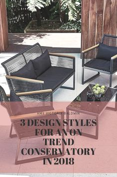 3 Design Styles For An On Trend Conservatory in 2018 - Amy Victoria Baldwin Outdoor Sofa, Outdoor Furniture, Outdoor Decor, Spring Home, Design Styles, Conservatory, Home Interior Design, Home Office, Amy
