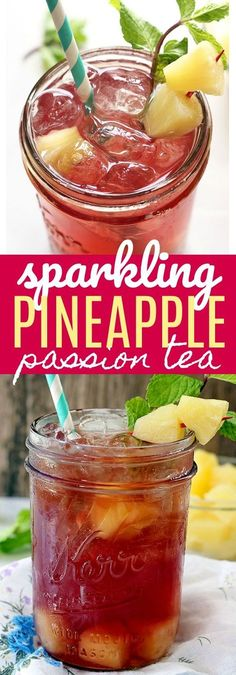 Sparkling Pineapple Passion Tea - If you like Tazo Passion Tea, then you will love this refreshing twist on your favorite drink! Made with three simple ingredients and perfect for sipping on this summer. @starbucks @walmart #ad #CraftYourCool