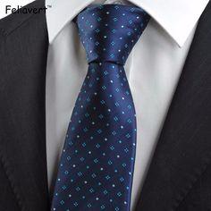 Luxury Striped Neck Tie Ties for Men Wedding Party European Style Necktie 8.5cm Fashion Jacquard Navy Blue Ties 2017 Gravatas #Affiliate
