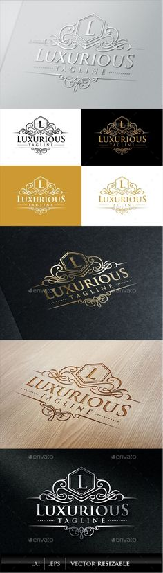 Buy Luxurious Royal Logo by vaaroo on GraphicRiver. Luxurious royal logo template suitable for businesses and product names, luxury industry like hotel, wedding and real. Fff Logo, Logo Web, Luxury Branding, Logo Branding, Branding Design, Luxury Logo Design, Luxury Font, Web Design, Graphic Design