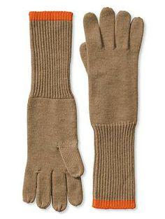 Colorblock Long Glove - Bananarepublic.com