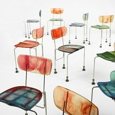 Gaetano Pesce / set of twelve 543 Broadway chairs from TBWA/Chiat/Day, New York < Important Design, 11 December 2008 < Auctions Furniture Decor, Modern Furniture, Furniture Design, Decoration Inspiration, Design Inspiration, Deco Design, Design Design, Cool Chairs, Bag Chairs