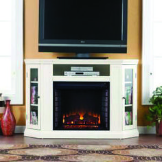 Tips for Spectacular fireplace tv stand diy exclusive on home decor gallery Fireplace Media Console, Corner Electric Fireplace, Electric Fireplaces, White Fireplace, Diy Fireplace, Fireplace Heater, Fireplace Screens, Home Depot, Electric Fireplace Entertainment Center