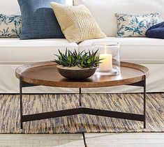 Coffee Table Styling, Diy Coffee Table, Decorating Coffee Tables, Coffee Table Design, Best Coffee Tables, Coffee Tables For Sectionals, Round Nesting Coffee Tables, Coffee Table Candles, Round Wood Coffee Table