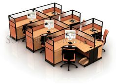 Office cubicles layout and office cubicles designs - Small office setup ideas ...