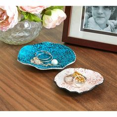 Painted clay jewelry bowls