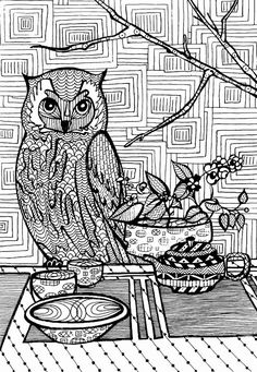 The 269 Best Owl Coloring Pages For Adults Images On Pinterest