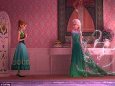More sibling rivalry? Director Chris Buck tells us we get to see a 'different side' of Els...