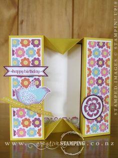 Floral District Birthday Box Card