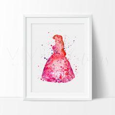 Ariel, Little Mermaid 4 Art Print - VIVIDEDITIONS