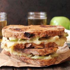 Roast Chicken, Apple and Brie Grilled Cheese. This sweet and savory sandwich fulfills all your fancy grilled cheese fantasies.