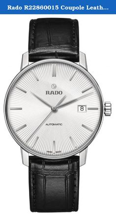 7e4371c7c520 Rado R22860015 Coupole Leather Automatic Mens Watch - White Dial. Stainless  steel case. Leather