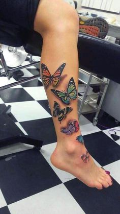 100 Fabulous Butterfly Tattoo Designs That Will Make You Crazy Best Leg Tattoos, Dope Tattoos, Pretty Tattoos, Beautiful Tattoos, Body Art Tattoos, Tribal Tattoos, Hand Tattoos, Girl Tattoos, Tatoos