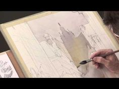 Try this easy technique for watercolor backgrounds in your cityscape paintings, ala Thomas Schaller & ArtistsNetwork.tv!