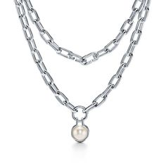 Tiffany Necklace, Tiffany Jewelry, Layered Chain Necklace, Freshwater Pearl Necklaces, Pendants, Pendant Necklace, Center Stage, Pearls, Sterling Silver