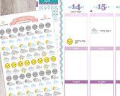 103 Weather Stickers Sheet |  Erin Condren Planner / Plum Paper Planner / Filofax / Kikki K / Planner