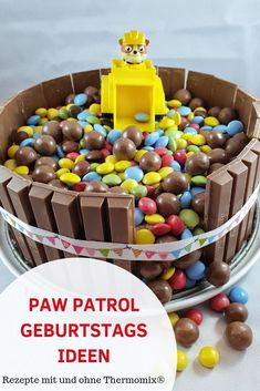 Quick and easy ideas for a Paw Patrol birthday. Children& birthday with Paw Patrol theme party. Paw Patrol Birthday, Boy Birthday, Paw Patrol Torte, Low Fat Cookies, Rubble Paw Patrol, Home Meals, Cakes For Boys, Baby Party, Healthy Kids