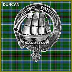 Clan Duncan Crest Badge and Tartan (ancient)