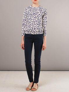 Frances May - A.P.C. Leopard Print Raglan Sweatshirt