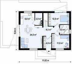 Casa moderna pequena de 2 quartos ☺