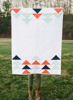 Darling Dexter - Darling Dexter - Flying Geese Baby Quilt - Now in the shop!
