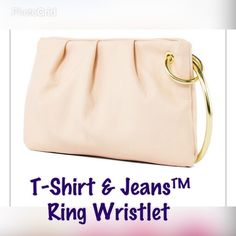 "NWT•T-Shirt and Jeans™•Ring Wristlet• Rock this wristlet on your next night out for sweet style with a pop of bright color. wristlet. Soft synthetic Leather.  synthetic 2 pockets 4Hx7½Wx¼""D imported T-Shirts & Jeans™ Bags Clutches & Wristlets"