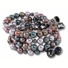 """I've made this project many times with a pair of cute dangle earrings. I like it because it's classy due to the pearls, buy not """"old-ladyish"""" because of the different colors of pearls and the crystal rondelles. I need to make a set for myself!"""