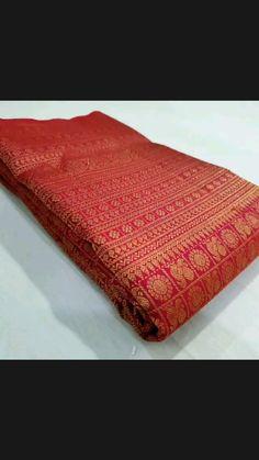 Kanjivaram Sarees Silk, Bandhani Saree, Indian Silk Sarees, Kerala Saree Blouse Designs, Bridal Blouse Designs, Wedding Silk Saree, Wedding Kimono, Red Saree, Saree Look
