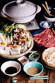 Shabu Shabu is a Japan's most popular hot pot where you cook meat and assorted vegetables in Japanese broth, kombu dashi. Cooked by everyone at the table, this dish is perfect for entertaining! #shabushabu #hotpot | Easy Japanese Recipes at JustOneCookbook.com