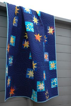 "Super delicious colors in this ""November Stars"" quilt by Marit of Quilt It."