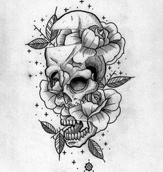 Weird skull filled with roses - Up for grabbing @blackmothxtattoo #tattoo #flashtattoo #occult #octagram8 #skulltattoo #boldlines #darkartists #blackworkers #dotworktattoo #dotwork #btattooing #illustration #drawing #flowertattoo #wroclawtattoo #wroclaw #blacktattoo #neotraditional by _octagram