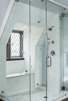 White haze turkish marble bathroom with thassos and akdo enchant mosaic deco tile blog - Haze her shower ...