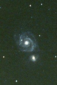 M51 - The Whirlpool Galaxy in constellation Canes Venatici. Photo Copyright Ed Flaspoehler