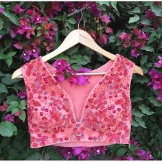 indianstreetfashion: Riddhi Mehra 's hand crafted pink blouse .. #prettyInPink #pink #blouse