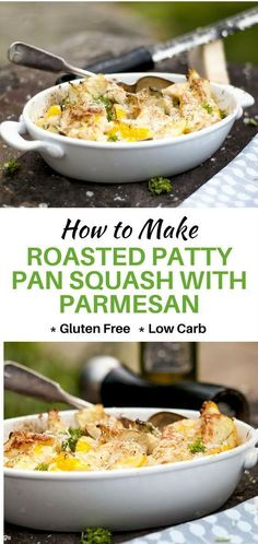 This Roasted Patty Pan Squash with Crispy Parmesan is a simple side dish that will add interest and delight to your table. #recipes #healthyrecipes #naturalhealth #weightlosstips