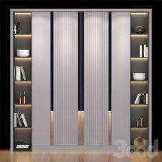 Wardrobe Interior Design, Wardrobe Door Designs, Wardrobe Design Bedroom, Bedroom Furniture Design, Wardrobe Doors, Tv Shelf Design, Shelving Design, Washbasin Design, Luxury Wardrobe