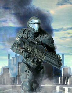 grafika cops, omnic, and cyberpunk