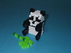 DIY 3D Panda perler beads - Photo tutorial