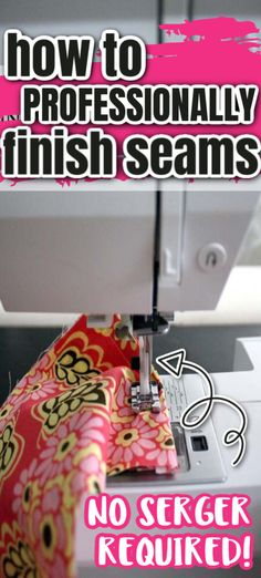 Great trick to professionally finishing seams like a pro on a regular sewing machine. No serger required. via @raegun