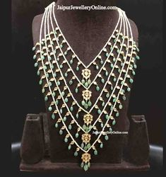Jadau South Choker Necklace Set Studded With Rubies and Diamonds – Jaipur Polki House Diamond Choker Necklace, Emerald Necklace, Emerald Jewelry, Dangle Earrings, Beaded Necklace, Choker Necklaces, Gold Jewelry, Glass Jewelry, Wedding Jewelry